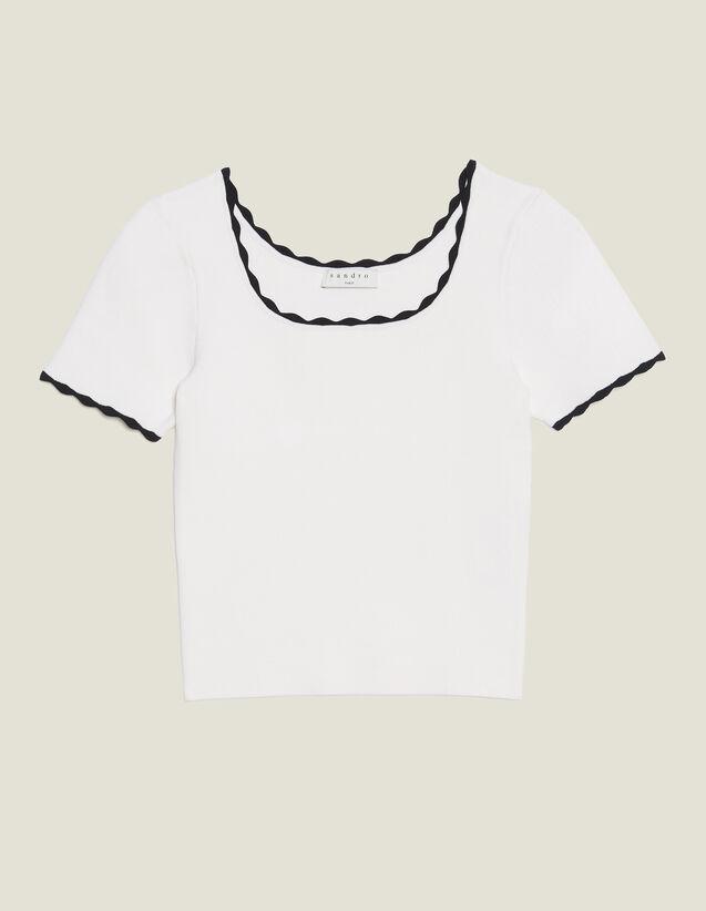 Top Corto In Maglia Coordinato : Top & Camicie colore Bianco