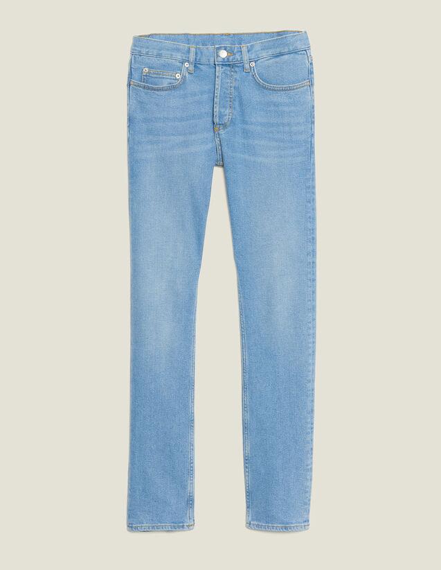 Jeans Délavé Linea Slim : Sélection Last Chance colore Blue Vintage - Denim