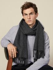 Sciarpa in lana e cashmere : Sciarpe colore Antracite