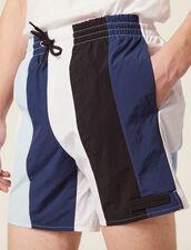 Costume Da Bagno A Righe Multicolori : Sélection Last Chance colore Blu