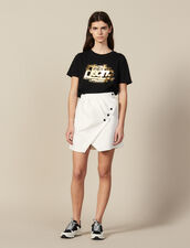 Gonna Corta A Portafoglio : FBlackFriday-FR-FSelection-Jupes&Shorts colore Ecru