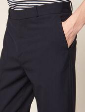 Pantaloni Carrot Con Risvolto : LastChance-CH-HSelection-Pap&Access colore Blu Marino