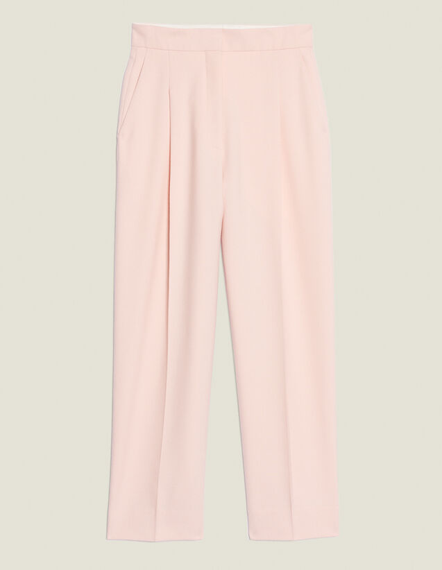 Pantaloni Da Tailleur 7/8 Coordinati : Pantaloni colore Rosa