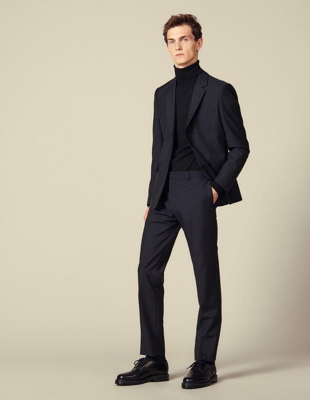 Pantaloni Da Completo Classici : Abiti & Smoking colore Blu Marino