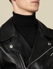 Chiodo in pelle : Giubbotti & Giacche colore Nero