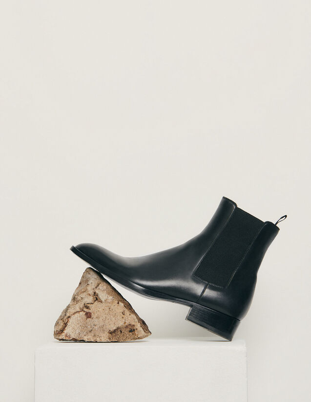 Chelsea in pelle liscia : Collezione Invernale colore Nero