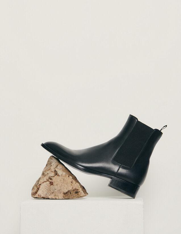 Chelsea in pelle liscia : Scarpe colore Nero