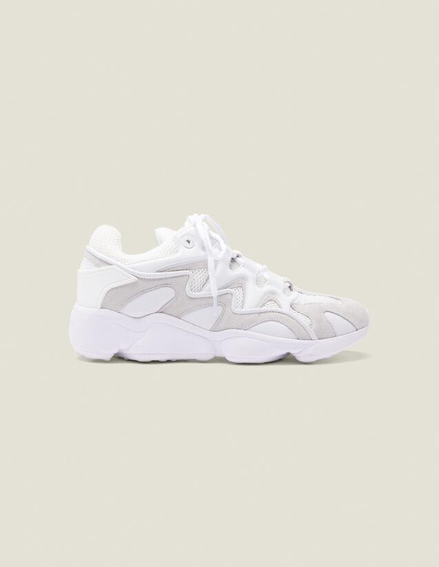 Sneaker Mix Di Materiali : Scarpe colore Bianco