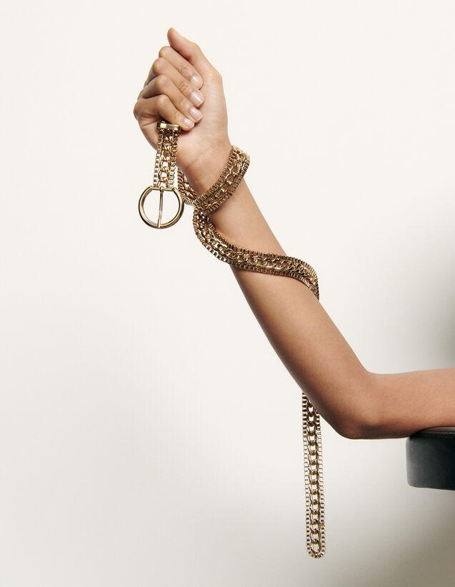 Cintura a catena con fibbia rotonda : Tutti gli Accessori colore Oro