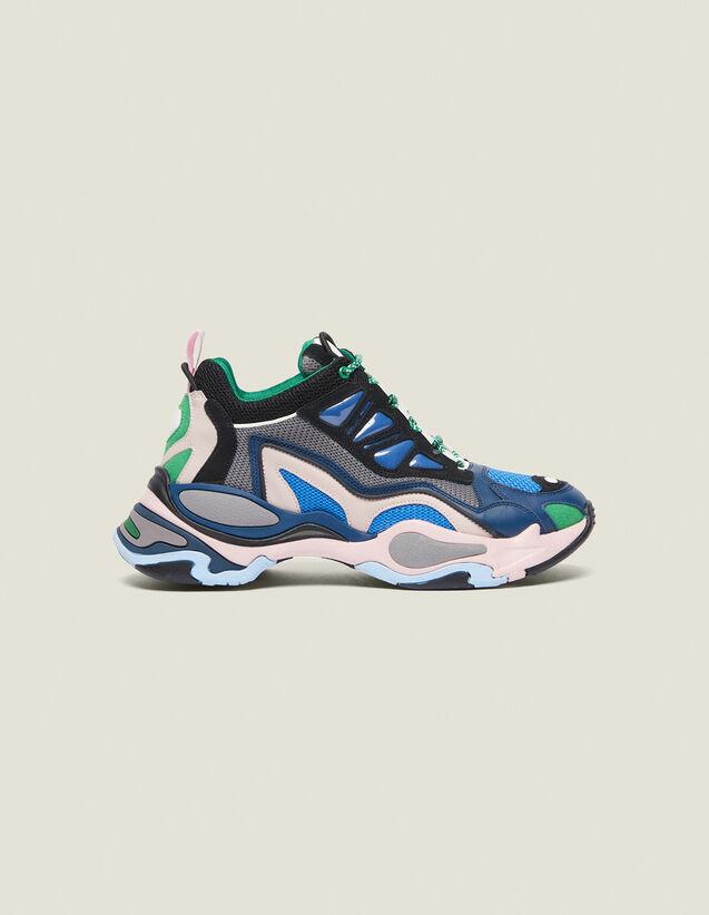 Astro Sneaker Con Suola Grafica : Collezione Estiva colore Blu azzurro