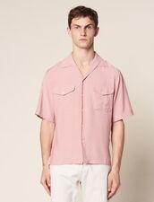 Camicia Fluida A Maniche Corte : Camicie colore Rosa pallido