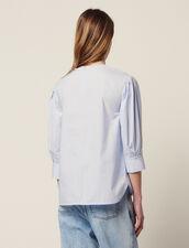 Top A Maniche Lunghe In Popeline : Top & Camicie colore Blu