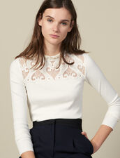 T-Shirt In Popeline Con Inserto : FBlackFriday-FR-FSelection-30 colore Ecru