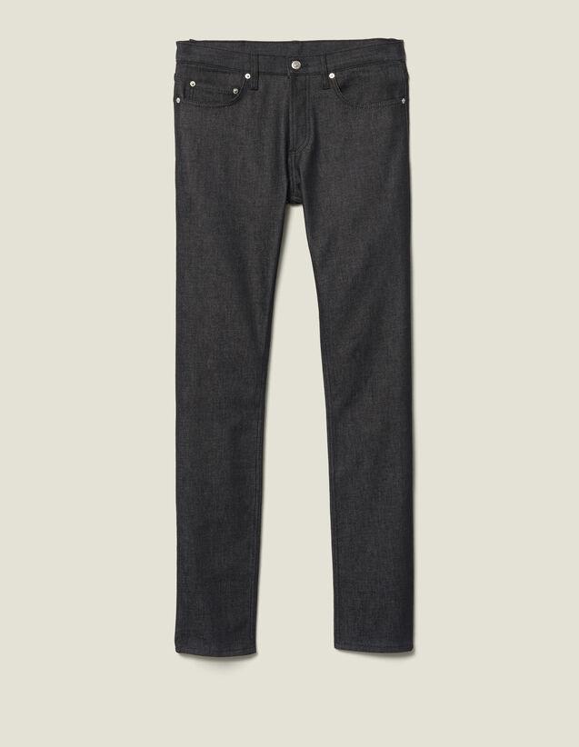 Jeans grezzi slim : Pantalons & Jeans colore Black - Denim