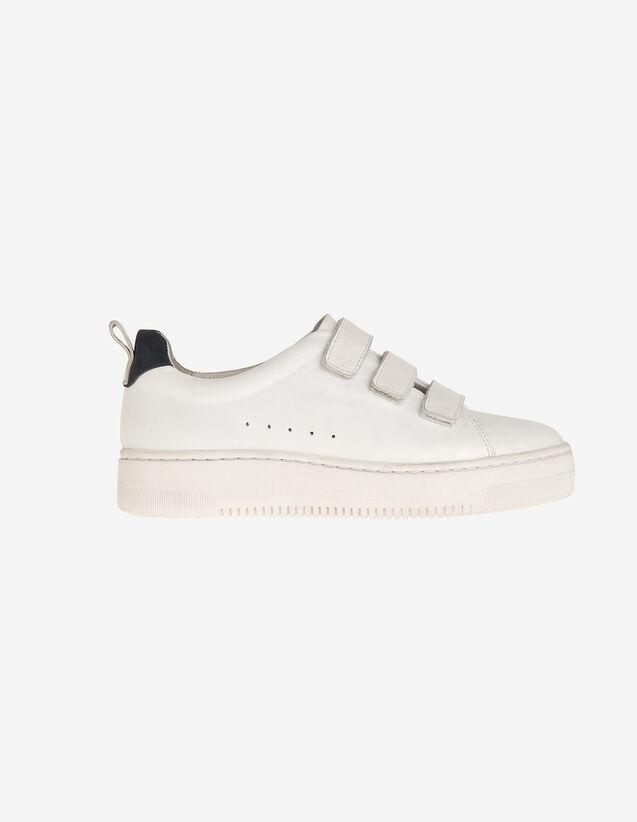 Sneaker In Cuoio Con Chiusura Velcro : Tutte le Scarpe colore Bianco