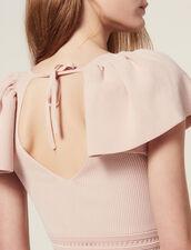 Robe Courte En Maille : null couleur Poudre
