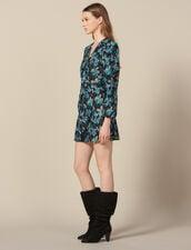 Abito in tulle con paillettes : LastChance-ES-F50 colore Noir/turquoise