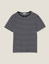 T-shirt marinière : Toute la Sélection colore Nero/Ecru