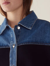 Cardigan bimateriale stile giacca : Maglieria & Cardigan colore Deep Navy