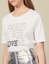 T-Shirt In Cotone Con Scritte : Novità colore Bianco