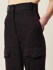 Pantalon Cargo : LastChance-FR-FSelection couleur Noir