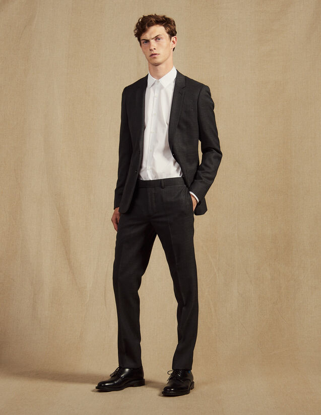 Pantaloni Da Completo : Abiti & Smoking colore Grigio Screziato