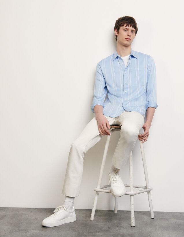 Camicia fluida a righe : Camicie colore Blu