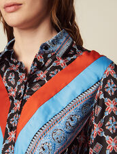 Robe Chemise Fluide Imprimée : LastChance-CH-FSelection-Pap&Access couleur Bleu