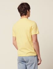 T-Shirt In Cotone Con Scritta : SOLDES-CH-HSelection-PAP&ACCESS-2DEM colore Giallo pallido