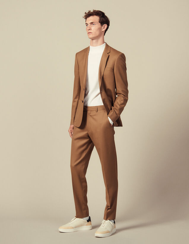 Pantaloni Da Completo In Lana : Abiti & Smoking colore Blu Marino