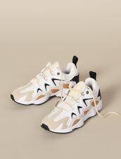 Sneaker in mix di materiali : -50% colore Beige
