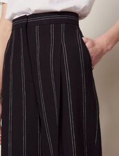 Pantaloni Coordinati A Righe Con Pince : null colore Nero
