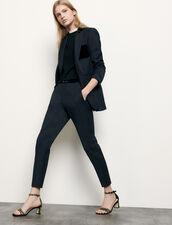 Pantaloni da tailleur dritti : Pantaloni colore Blu Marino