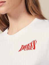 T-Shirt In Cotone Con Scritta : Novità colore Bianco