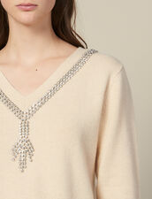 Pullover Con Scollo Ornato Da Gioielli : FBlackFriday-FR-FSelection-30 colore Beige