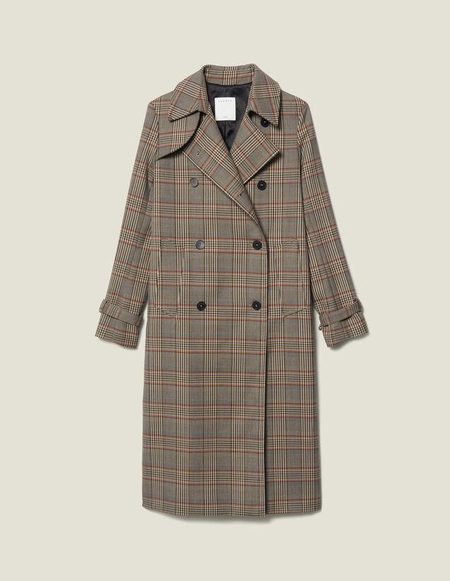 Trench-Coat À Carreaux : Manteaux couleur Multicolore