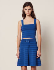 Gonna Corta Svasata In Maglia : null colore Blue jeans
