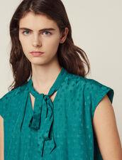Top Senza Maniche Con Collo A Cravatta : Top & Camicie colore Verde