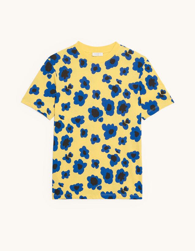 T-shirt imprimé : HCollection Ete couleur Jaune