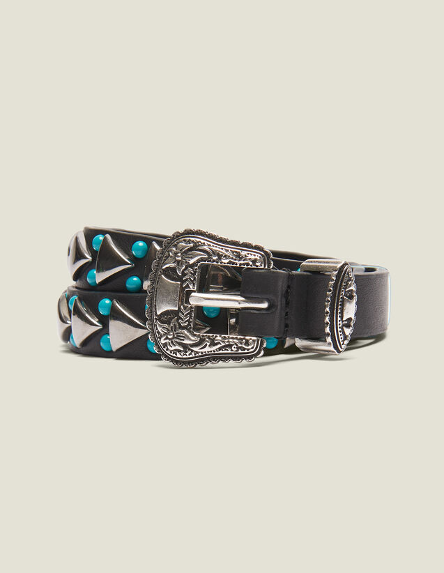 Cintura Sottile Con Fibbia Western : LastChance-FR-FSelection colore Nero