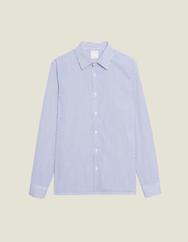 Camicia formale in cotone : Camicie colore Bianco/Blu