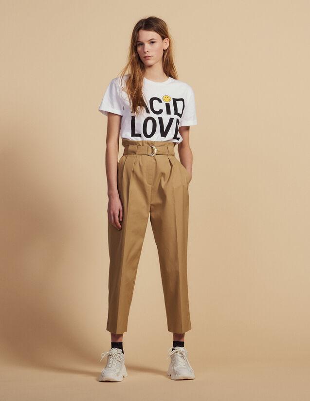 Pantalon Taille Haute Ceinturé : LastChance-CH-FSelection-Pap&Access couleur Beige
