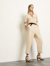 Tuta pantalone stile aviatore : Tute colore Beige