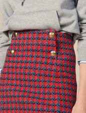 Gonna corta in tweed : Gonne & Short colore Rosso