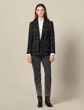 Giacca da tailleur in tweed : Giacche & Giubbotti colore Nero