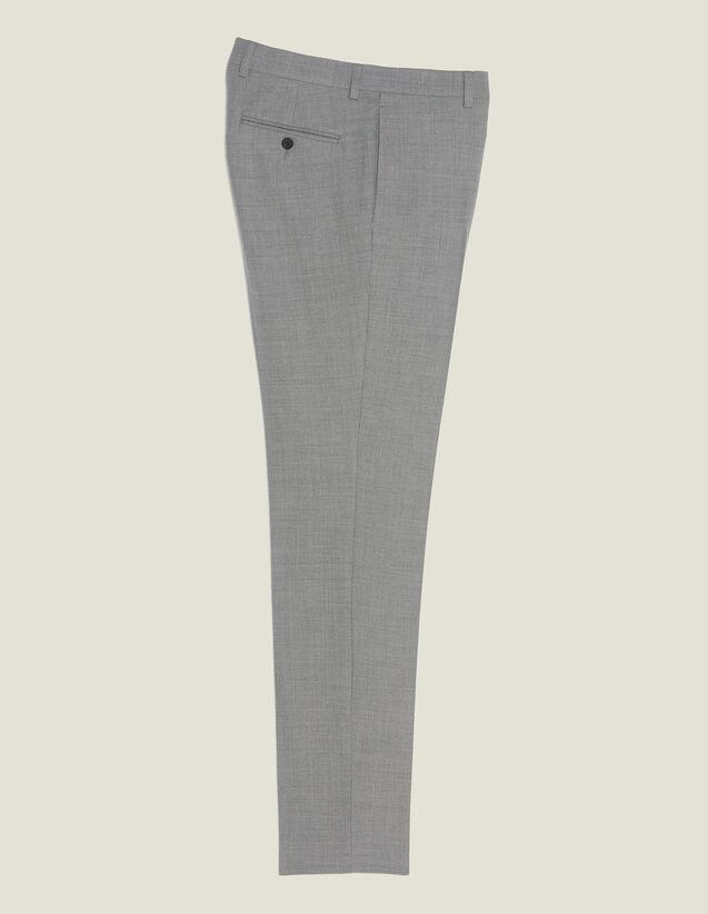 Pantaloni Da Completo In Lana : Abiti & Smoking colore Grigio Chiaro