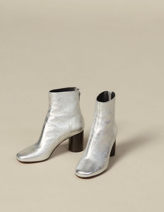 Stivaletti In Pelle Metallizzata : Tutte le Scarpe colore Argento