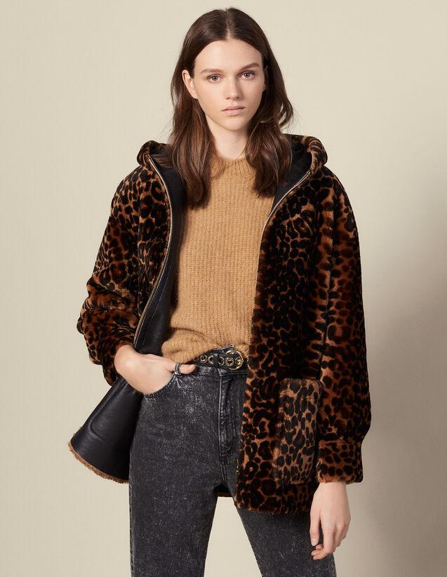 Cappotto in montone stampato : Cappotti colore Leopardo