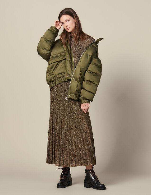 Doudoune over size matelassée : Manteaux couleur Kaki