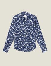 Camicia Fluida Con Stampa Floreale : Sélection Last Chance colore Blu Marino